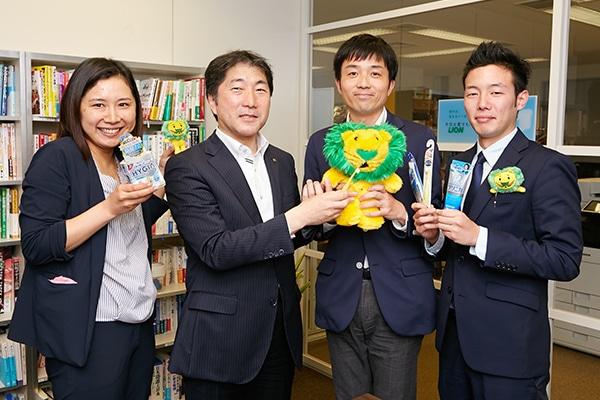 ライオン株式会社の小笠原俊史さんと西本博昭さんと株式会社ソフィアの森口静香と小林裕大
