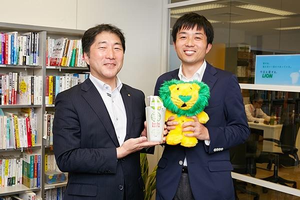 ライオン株式会社の小笠原俊史さんと西本博昭さん